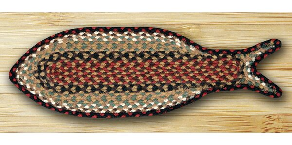 Braided Burgundy/Mustard Area Rug by Earth Rugs