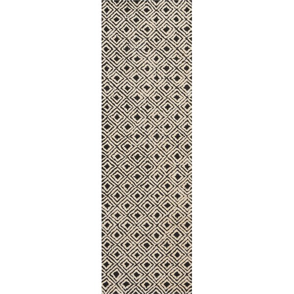 Chism Deco Hand-Tufted Black/Beige Area Rug by George Oliver