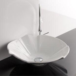 Coupon Ceramica Ceramic Circular Vessel Bathroom Sink ByWS Bath Collections