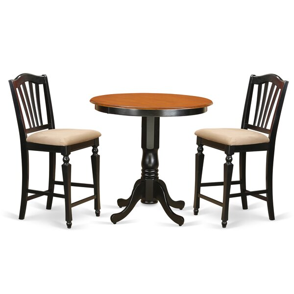 Smyth 3 Piece Counter Height Pub Table Set by Charlton Home Charlton Home