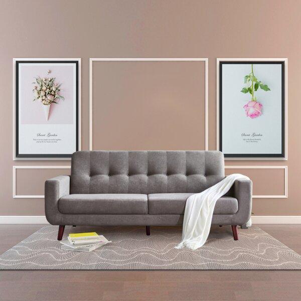 Review Shelbina 79.6'' Recessed Arm Sofa