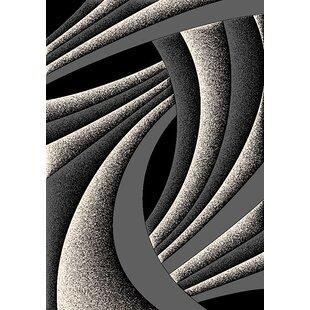 Reviews Stinson 3D Effect Gray/Black Area Rug ByOrren Ellis