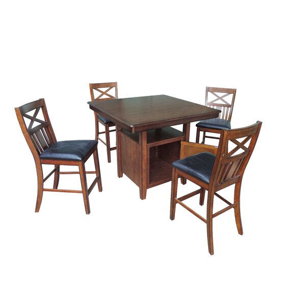 Askern 5 Piece Counter Height Dining Set by Red Barrel Studio Red Barrel Studio