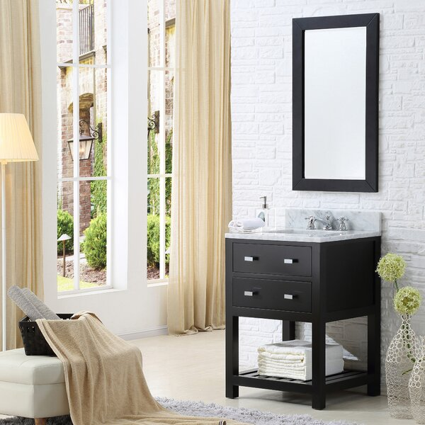 Berghoff 24 Single Bathroom Vanity Set with Mirror by Andover Mills