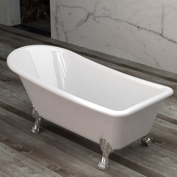 Picadilly 59 x 28.75 Soaking Bathtub with Faucet by Jade Bath