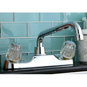 Kingston Brass Double Handle Kitchen Faucet with Spout
