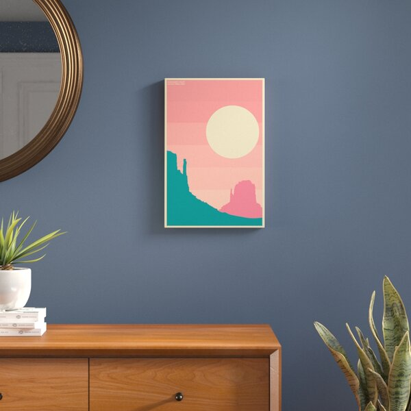Monument Valley Graphic Art on Wrapped Canvas by Langley Street