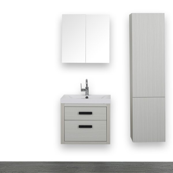24 Single Bathroom Vanity Set with Mirror