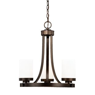 Inexpensive Gallman 3-Light Shaded Chandelier ByWrought Studio