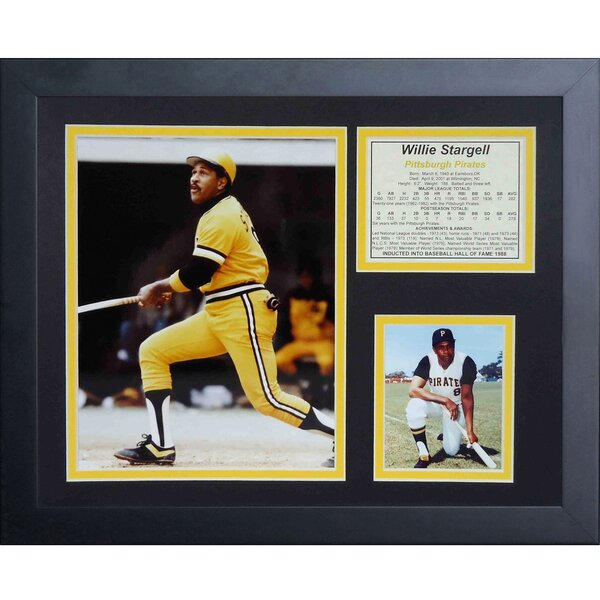 Willie Stargell Framed Memorabilia by Legends Never Die