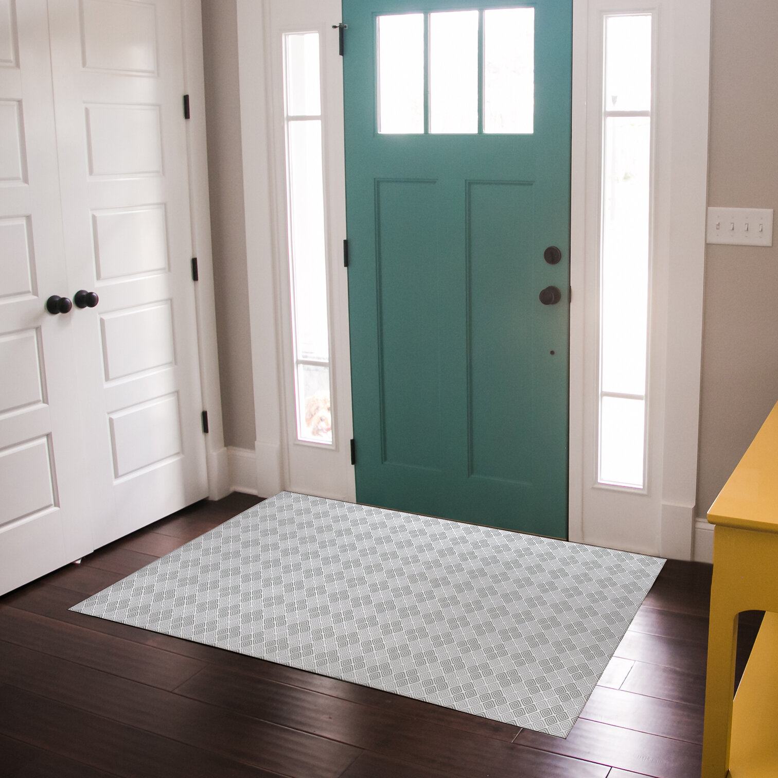 Grey Damask Rug Door Mats You Ll Love In 2021 Wayfair