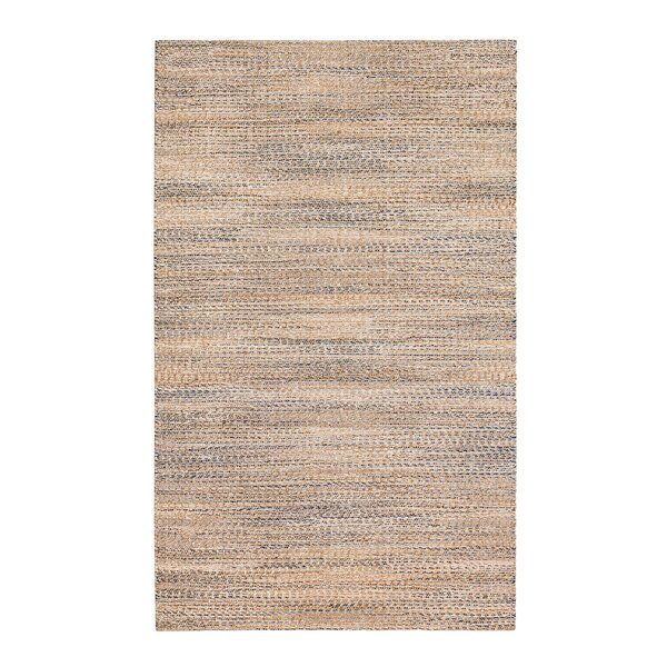 Lynn Haven Hand-Woven Tan/Ivory/Blue Area Rug by Beachcrest Home