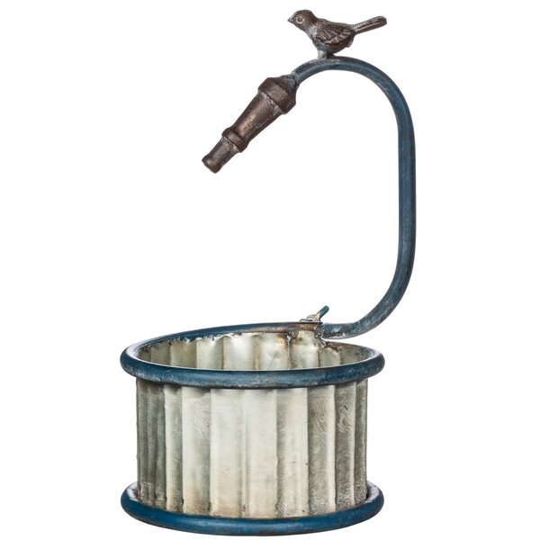 Charlebois Garden Hose Round Metal Pot Planter by August Grove