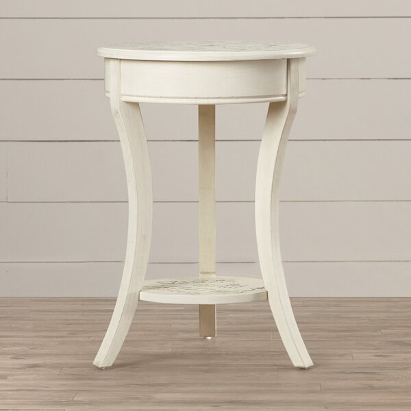 Nevaeh Parisian Script Accent Table by Lark Manor