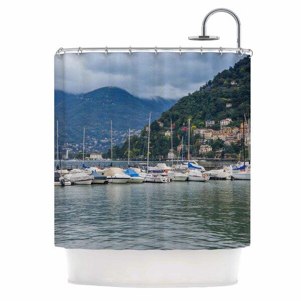 Italian Harbor by Violet Hudson Coastal Shower Curtain by East Urban Home