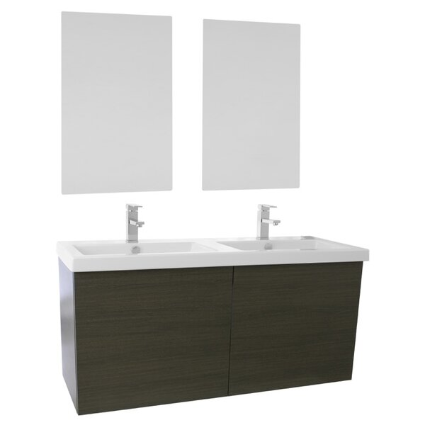 Space 47 Double Bathroom Vanity Set with Mirror by Nameeks Vanities