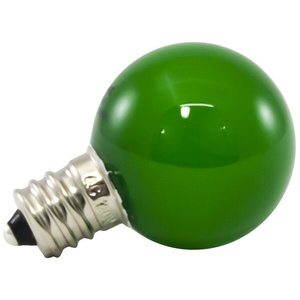 1W Green Frosted E12/Candelabra LED Light Bulb (Set of 500) by American Lighting LLC