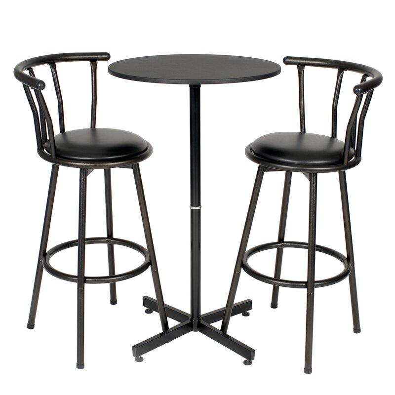 zipcode design mavis 3 piece pub table set  reviews