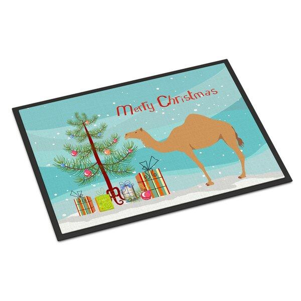 Southall Arabian Camel Dromedary Christmas Non-Slip Outdoor Door Mat