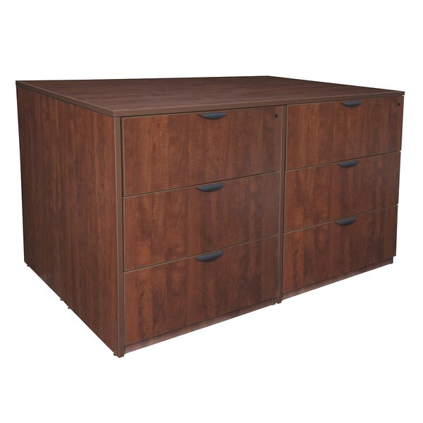 Linh Stand Up Quad 6-Drawer Wood Lateral Filing Cabinet by Latitude Run