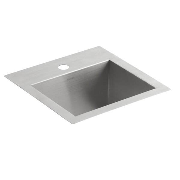 Vault Top-Mount/Under-Mount Bar Sink with Single Faucet Hole by Kohler