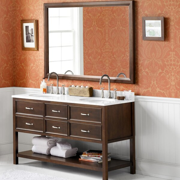 Newcastle 60 Double Bathroom Vanity Set with Mirror by Ronbow