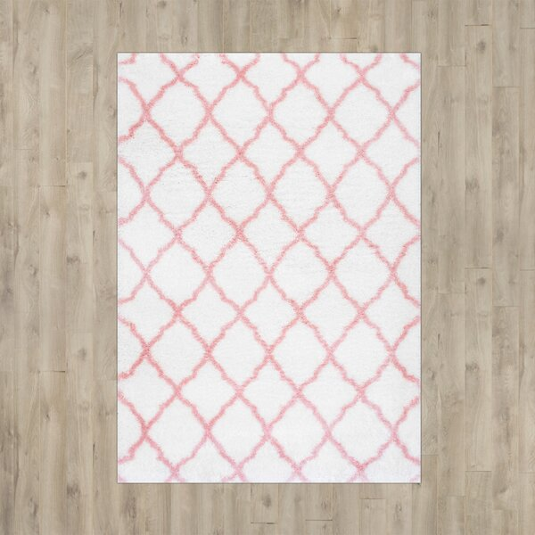 Kellie Baby Pink Indoor Area Rug by Viv + Rae