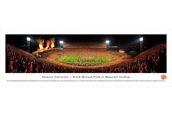 NCAA Clemson University - Celebration by James Blakeway Photographic Print by Blakeway Worldwide Panoramas, Inc