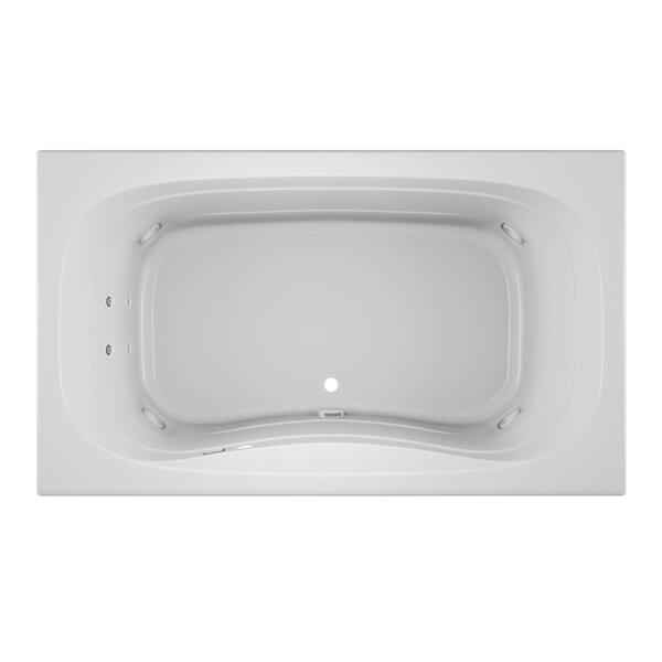 Signa Right-Hand Heater 72 L x 42 W Drop In Whirlpool Bathtub by Jacuzzi®