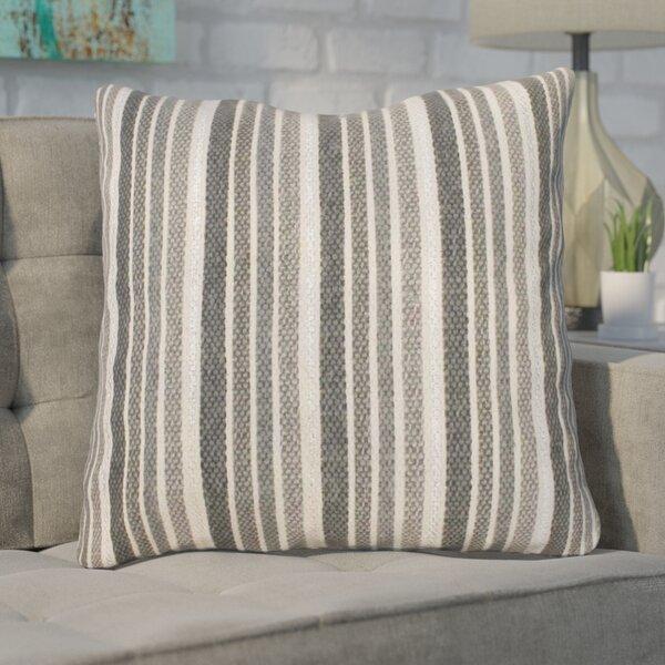 Scott Stripe Foil Printed Cotton Throw Pillow by Ivy Bronx