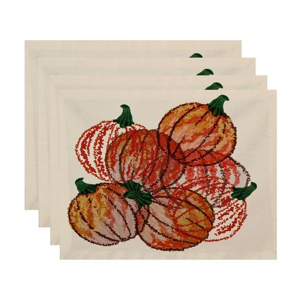 Miller Hand Towel Pumpkin Pile Print Placemat (Set of 4) by Alcott Hill