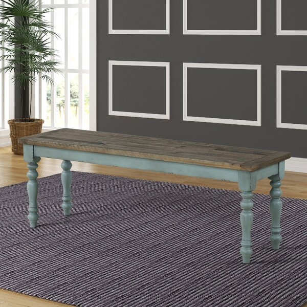 Cierra Two-Tone Wood Bench by Ophelia & Co.
