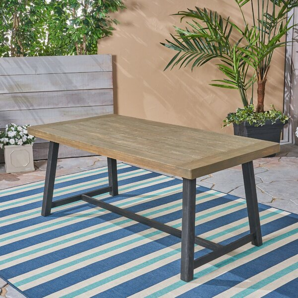 Liberatore Wooden Dining Table by Union Rustic