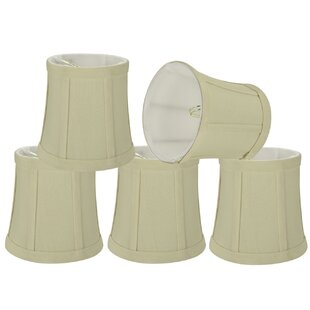 Read Reviews Chandelier Clip-On 5 Fabric Bell Lamp Shade (Set of 5) By Alcott Hill