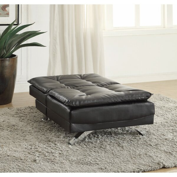 Bergelt Modish Leatherette Futon and Mattress by Orren Ellis