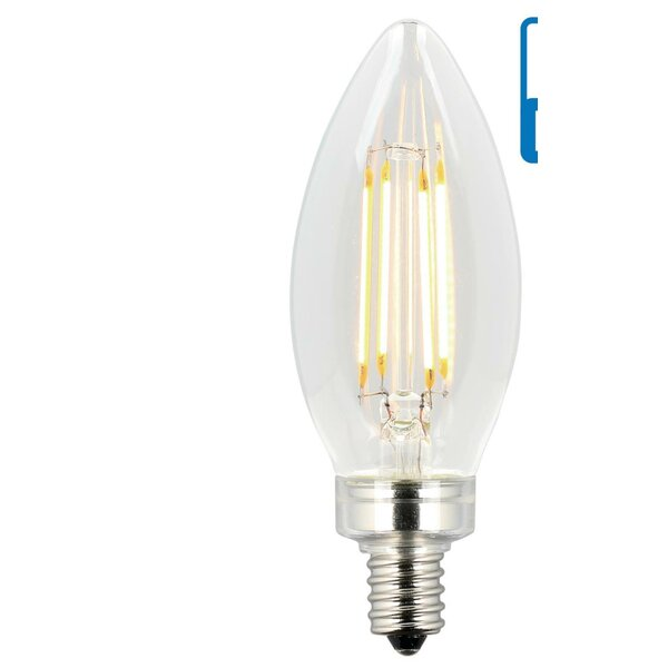 6W E12 Dimmable LED Edison Candle Light Bulb (Set of 6) by Westinghouse Lighting