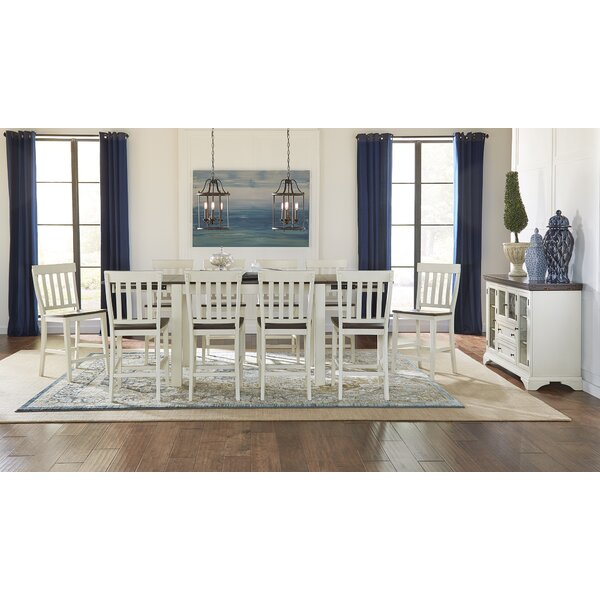 Aguero 11 Piece Counter Height Extendable Solid Wood Pub Table Set by Canora Grey