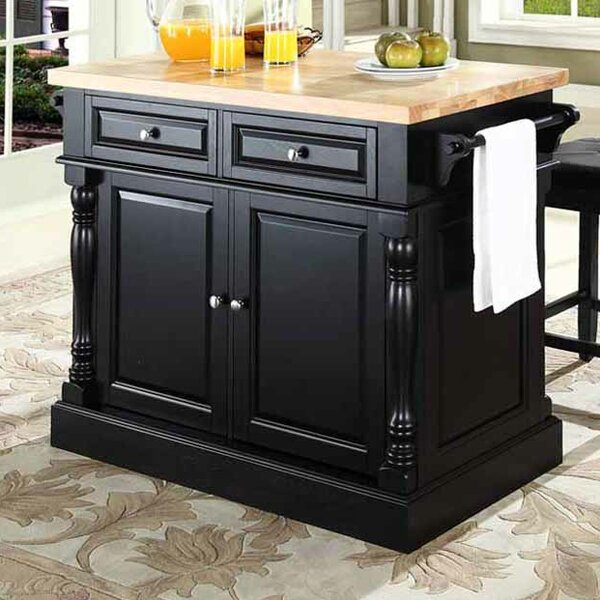 Best Choices Haslingden 3 Piece Kitchen Island Set With Butcher Block Top By Three Posts No Copoun