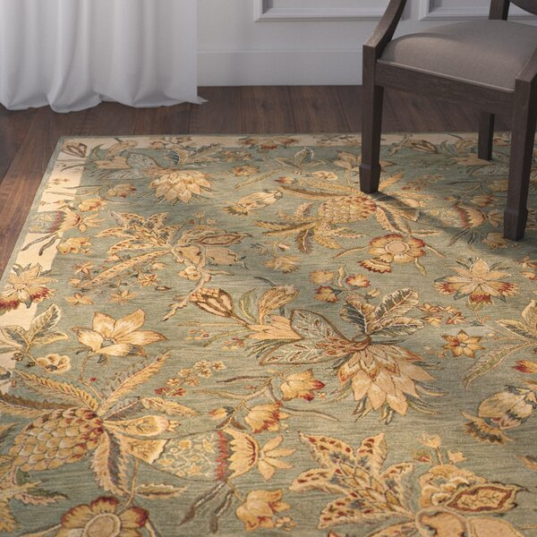 Lanesborough Hand-Tufted Blue/Beige Area Rug by Astoria Grand