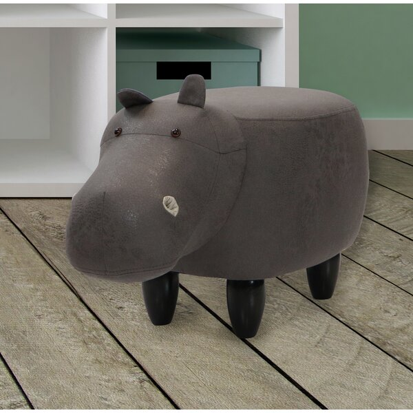 Critter Sitters Hippo Storage Ottoman By Zoomie Kids