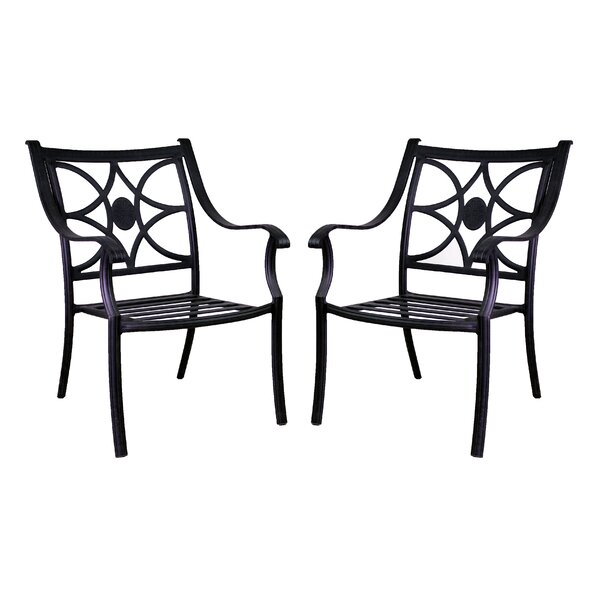 Sunderland Patio Dining Chair (Set of 2) by Fleur De Lis Living
