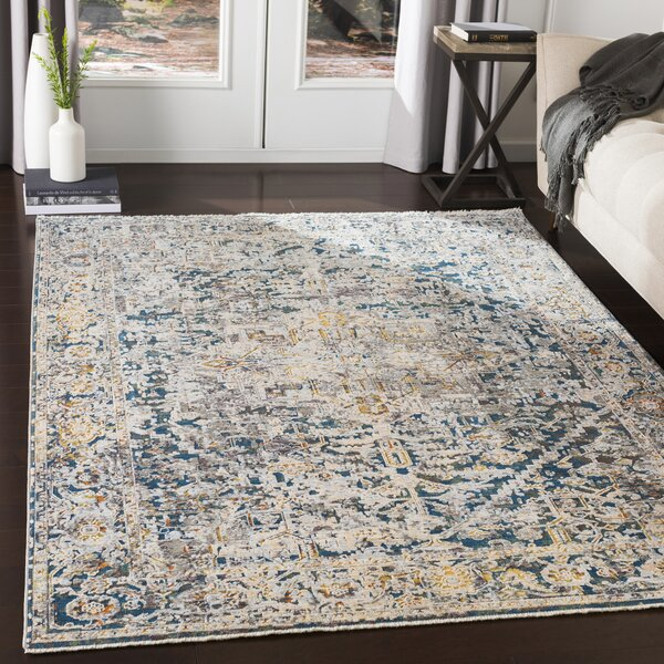 Mckeel Oriental Pale Blue Area Rug by Williston Forge
