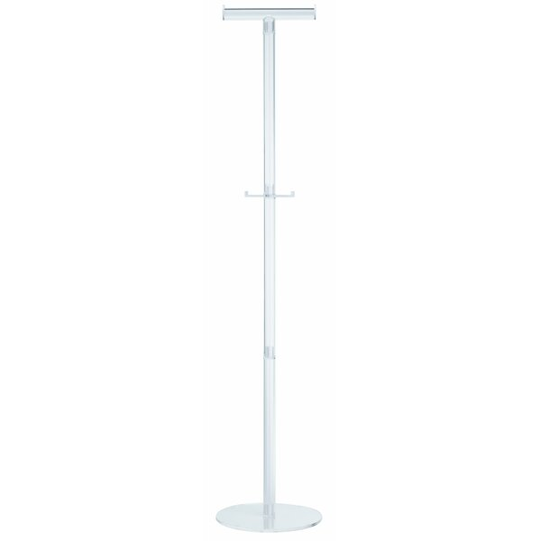 Alco Acro Acrylic Coat Stand for Coat Hangers with 2 Pegs by Paperflow