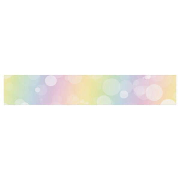Pastel Prism Bokeh Table Runner by East Urban Home