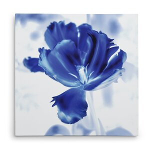 'Blue Ice Tulip' Graphic Art Print on Wrapped Canvas by Ivy Bronx