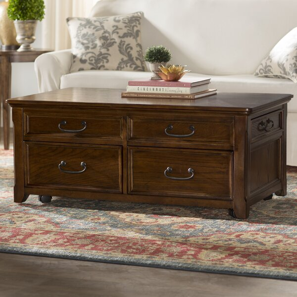 Mathis Coffee Table Trunk with Lift Top by Darby Home Co