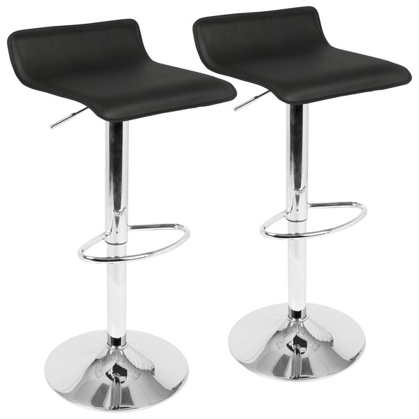 Camargo Adjustable Height Swivel Bar Stool (Set of 2) by Wade Logan