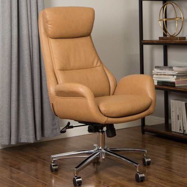 Harkness Mid Century Modern Gaslift Swivel Ergonomic Executive Chair by Corrigan Studio