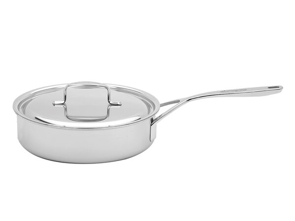 3 qt. 5-Plus Stainless Steel Saute Pan with Lid by Demeyere