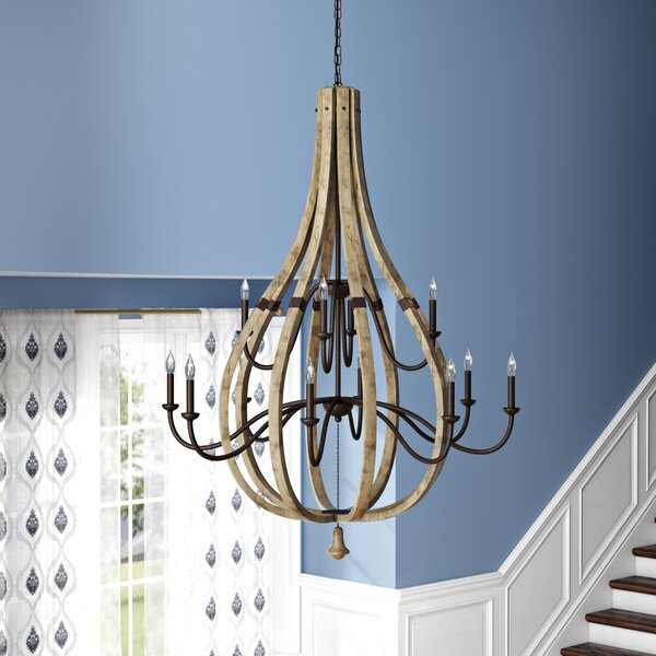 Adne 12 - Light Candle Style Empire Chandelier by Ophelia & Co. Ophelia & Co.
